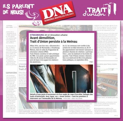 Trait d'union la meinau, dernieres nouvelles d'alsace, 24 avril 2013